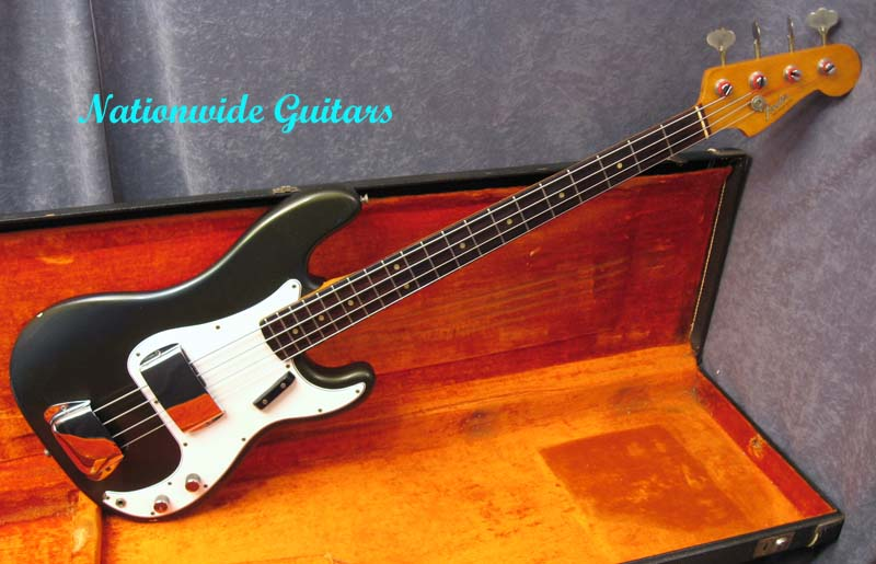 1965 Fender Charcoal Frost P Bass